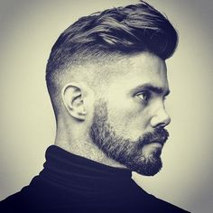 Matty has been keeping busy lately shooting his trend cuts for this season… Here is his freehand tight taper with a textured pompadour top. @victorybarbers