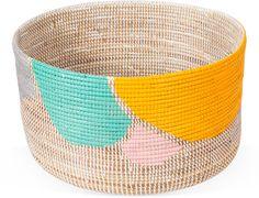 Karen Kimmel hand painted basket via happymundane.com