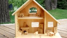 New Kids Furniture Diy Couch Doll Houses Ideas Wooden Dollhouse, Wooden Dolls, Diy Dollhouse, Diy Kids Furniture, Doll Furniture, Doll House Plans, Furniture Packages, Diy Couch, Kids Wood