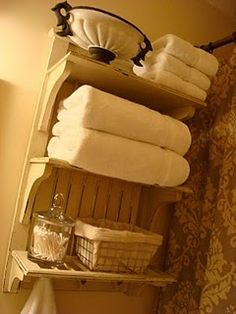 bathroom storage- I have all the supplies needed for this. Could be an easy quick cheap organizing fix.