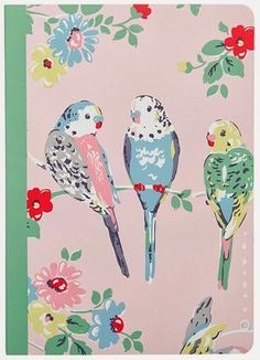 I am loving the new budgerigar prints at Cath Kidston this season. The beautiful designs in vintage pastel colours are available on stati. Rose Wallpaper, Trendy Wallpaper, Iphone Wallpaper, Cath Kidston Wallpaper, Cath Kidston Fabric, Art And Illustration, Illustrations, Design Textile, Design Floral