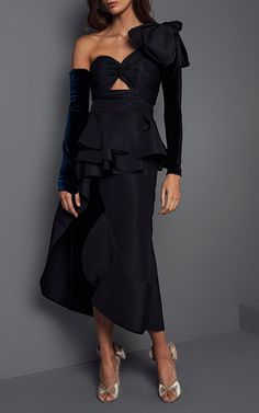 Malagueña Puff One Shoulder Dress by JOHANNA ORTIZ for Preorder on Moda Operandi