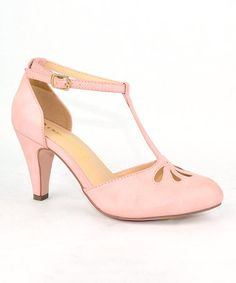 Look at this #zulilyfind! Rose Pink T-Strap Kimmy Pump #zulilyfinds