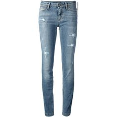 DOLCE & GABBANA distressed skinny jean ($570) ❤ liked on Polyvore