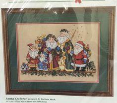 Dimensions Santa Quintet Cross Stitch Kit Father Christmas 1998 Old World NIP #Dimensions