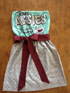 Texas A & M Game Day Dress Mint Green Gray and Maroon by CheerItUp, $55.00