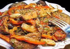 Аджапсандал - ароматное рагу по-грузински Georgian Cuisine, Georgian Food, Ragu Recipe, Vegetarian Recipes, Cooking Recipes, True Food, Russian Recipes, Going Vegan, I Foods