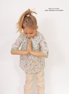 Floral girls TUNIC pattern pdf  easy children by AmelieClothing