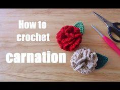 YouTube Crochet Small Flower, Crochet Flowers, Baby Sandals, Crochet For Beginners, Small Flowers, Carnations, Knitting Yarn, Macrame, Crochet Necklace