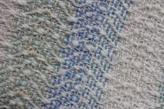 'Goose Neck'  by Christine Wheeler. Throw, 8 shaft twill using three different weights of yarn. Woven as part of a project for the Janet Phillips Masterclass 2011-2013.  www.janetphillips-weaving.co.uk