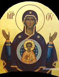 храмовая икона Богородица Знамение
