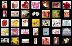 Templates for Party Boxes or Party Souvenirs.