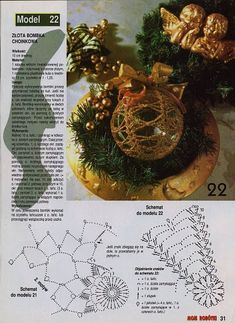 "Photo from album ""Moje robotki on Yandex. Crochet Christmas Ornaments, Christmas Crochet Patterns, Holiday Crochet, Crochet Snowflakes, Handmade Christmas, Christmas Globes, Christmas Bells, Christmas Holidays, Christmas Crafts"