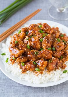 General Tso's chicken - This is General Tso's chicken is done right! You'll love the depth of flavor from the rich hoisin sauce, the fresh ginger and garlic. Try homemade General Tso's chicken tonight!