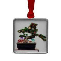Shop Bonsai Christmas Tree Metal Ornament created by I_Love_Xmas. Homemade Christmas Decorations, Christmas Tree Ornaments, Christmas Holidays, Christmas Crafts, Christmas Windows, Holiday Gifts, Holiday Decor, Bumper Stickers, Bonsai