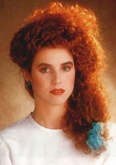 Original 1980s Side ponytail with perm