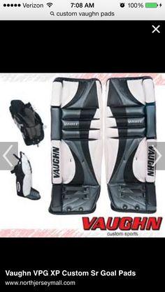 Custom pads Goalie Gear, Goals