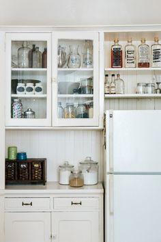 above fridge.