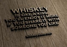 It's like a kiss. #bourbon #whiskey