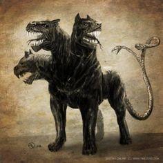 Це́рбер, также Ке́рбер (от др.-греч.Κέρβερος, лат. Cerberus) — в греческой мифологии порождение Тартара и Геи, трёхголовый пёс, у которого из пастей течёт ядовитая смесь. Цербер охранял выход из царства мёртвыхАида, не позволяя умершим возвращаться в мир живых. Однако это удивительное по силе существо было побеждено Гераклом в одном из егоподвигов.