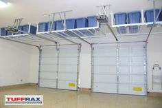 smart overhead storage over garage doors