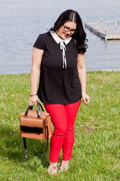 Detroit Debutante Preppy Glasses Polished Look Kate Spade Bag