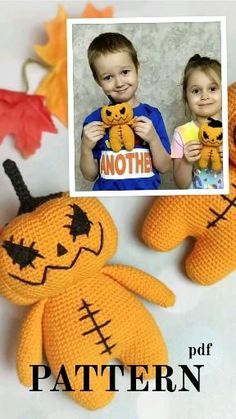 Halloween Crochet Patterns, Crochet Toys Patterns, Stuffed Toys Patterns, Doll Patterns, Knitting Patterns, Bear Patterns, Free Easy Crochet Patterns, Halloween Knitting, Knitting Tutorials