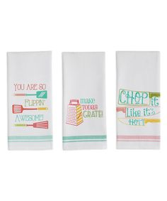 Look at this Cheeky Chef Dish Towel Set on #zulily today!