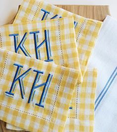 The happiest cocktail napkins! #theloveliest #monograms #dallas