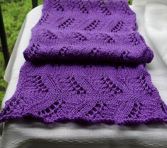 Pretty Little Scarf by Galzanne Knits - Like the pattern and the deep purple color.