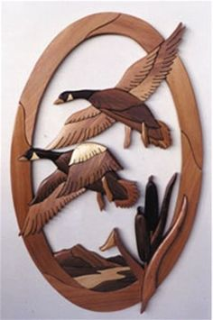 Geese Plan Everyone will love this intarsia piece! The Geese intarsia is  such a wonderful scene that you can't help but being drawn to it! You may want to construct more than one of these because whe