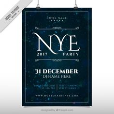 Elegant poster of new year party 2017 Free Vector