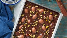 """""""Easy Easter [dessert] recipes: Have left over Easter eggs? Here is what you can do with them, plus other scrumptious treat ideas."""" -- Click through for a slideshow with links to a dozen and a half sweet Easter treats. Shown: """"Easter Egg Slice. Yummy Treats, Sweet Treats, Easy Easter Recipes, Cakes Plus, Easter Dinner, Easter Treats, Snacks, Easter Eggs, Easter Bunny"""