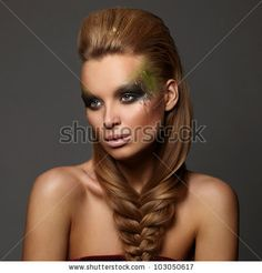 sexy high fashion glamour shot   High fashion look.glamour fashion portrait of beautiful sexy brunette ...