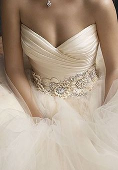 she chose this as her future wedding gown Wedding Wishes, Wedding Bells, Wedding Events, Bridal Gowns, Wedding Gowns, Ivory Wedding, Champagne Wedding Dresses, Wedding Cake, Bridal Belts