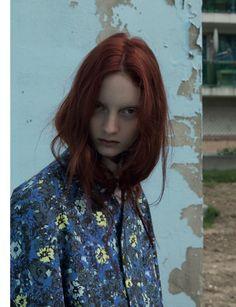 Codie Young Dons Raf Simons for Black F/W 2012 by Karen Inderbitzen-Waller