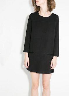 Trim shift dress