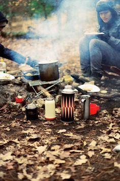 Camping in the fall.