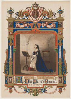 Chromolithograph of Anne Boleyn, published by Charles Jeffreys, 1846