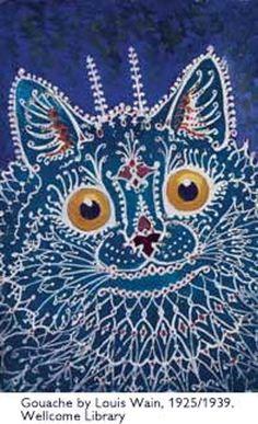 Paisley Cat | gouache | Louis Wain