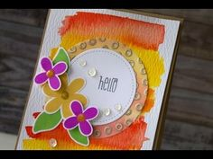 Tracy Mae Design: Floral Watercolor Card, The Alley Way Stamps, Hero Arts, W Plus 9, Ranger Ink, Gansai Tambi Watercolor