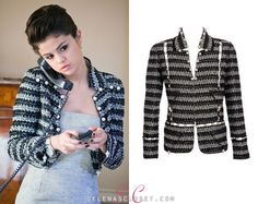 Marc Jacobs Lurex Tweed Jacket with Pearls,