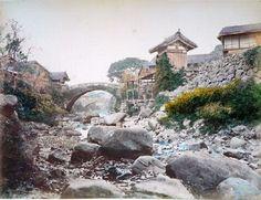 Ancient bridge in Japan