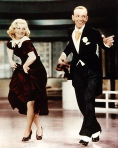 tap dancing - If you're a Fred Astaire/Ginger Rogers lover like I am, and IF you've ever 'tried' to tap dance...it's NOT easy!  Tap dancing is a FABULOUS way to tone the body, especially the buttocks and legs.  It gives you an unbelievable cardio workout, and is LOTS of FUN!