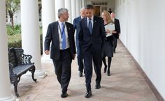 President Barack Obama walks along the Colonnade with John Holdren, Nov. (Official White House Photo by Pete Souza) Climate Action, Political Issues, Sports Photos, Moving Forward, Barack Obama, Science And Technology, Climate Change, Presidents