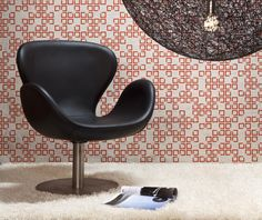 EchoPanel Mura is an acoustic wallpaper with, available in a range of designs including this red and grey Quattro print