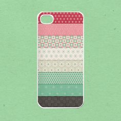 Pink pattern for iphone 4 case , iphone 4s case, iphone 5 case , samsung galaxy s3 case, ipod touch 4 case. $16.99, via Etsy.