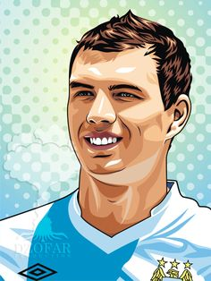 Edin Dzeko Vector by ndop