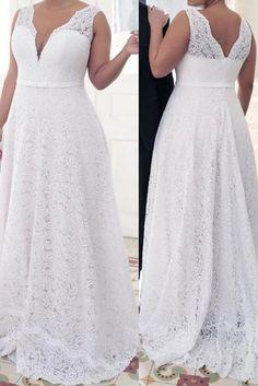 A-line/princess v-neck sleeveless lace sweep/brush train lace plus size dresses - plus size prom dresses - prom dresses - hebeos online. Line/princess. Princess Prom Dresses, Prom Dresses For Teens, V Neck Prom Dresses, Pink Prom Dresses, Cheap Prom Dresses, Simple Dresses, Prom Gowns, Pageant Dresses, Dress Prom