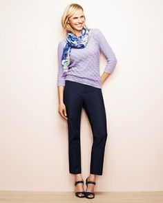 eeba5c310242 Ribbon yarn squares sweater #ColdwaterCreek Ribbon Yarn, Squares, Stitch  Fix, Capri Pants